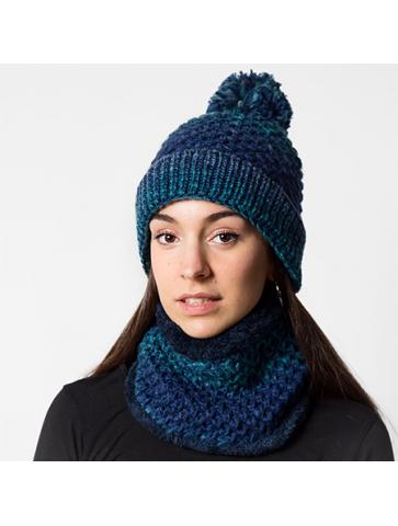 Textile set of pompom hat...