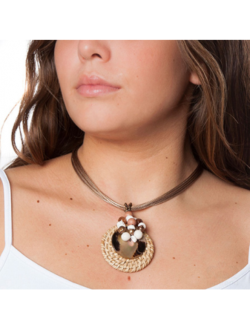 Multi-cord short necklace