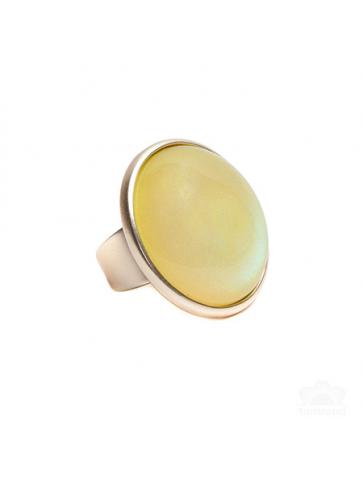 Στρόγγυλο Κίτρινο Δαχτυλίδι