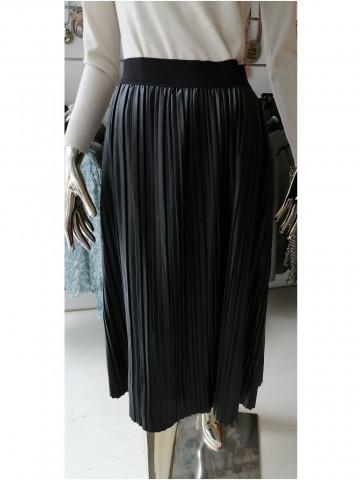 Pleated leather like Skirt